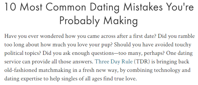 3 Day Rule Dating In What The Is